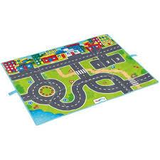 tapis de jeux voitures sac à routes 5 voitures de course viking toys garages