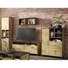 details zu tv wand wohnkombi anbauwand mediawand 4 tlg wohnwand set wohnzimmer industrial