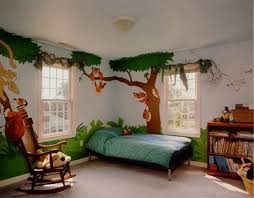 Kids Room decoration along the tropical rainforest theme