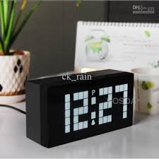 2018 White Light Led Digital Clock Electronic Wall Bedroom Snooze Alarm Calendar And Temperature Table From Ck Rain 1656