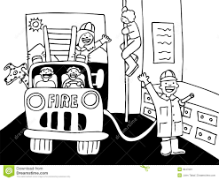 Fire Truck Clipart Home Fire - Pencil And In Color Fire Truck ...