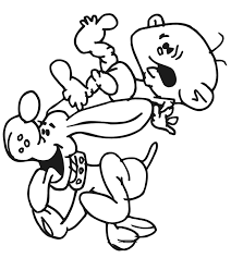 Dog Coloring Page Baby Falling Off