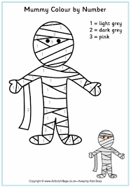 Halloween Multiplication Worksheets Coloring by Mummy Colour By Number 0 Gif