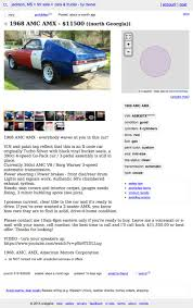 100 Mississippi Craigslist Cars And Trucks By Owner For 11500 Try This 1968 AMC AMX On For Size