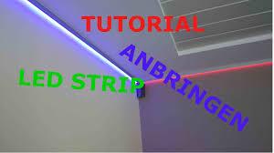 tutorial led stripes anbringen