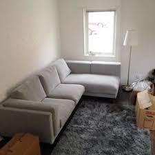 nockeby teno dark gray loveseat w chaise family room