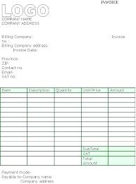 Simple Contractor Invoice Simple Invoice Template Open fice
