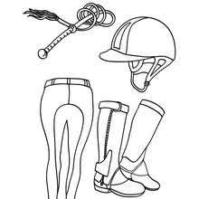 Horse Riding Equipment For Kids Coloring Page