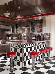Awesome Kitchen Also Endearing Interior Decor Home With 50s Diner