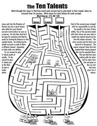 Image Result For Parable Of The Talents Colouring Pages