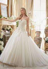 Mori Lee 2892 Strapless Beaded Bodice Ball Gown Wedding Dress