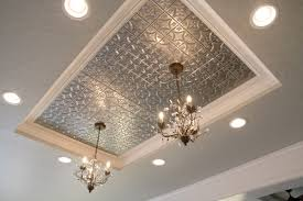 modern 6 kitchen with metal ceiling tiles on 16 decorative ceiling