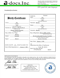 Russian Birth Certificate Template Magnificent Translation Samples Spanish English New Awesome Of Related Post