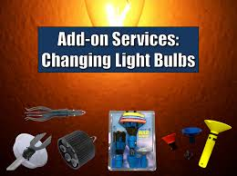 add on services changing light bulbs brilliant windows