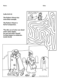 Help The Prodigal Son Find His Way Home Activity Sheet Maze