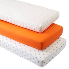 Arrow Crib Bedding by Iconic Orange Arrow Crib Fitted Sheets Set Of 3 The Land Of Nod