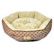 pooch planet plush sidewall pet bed for small dogs cats brown