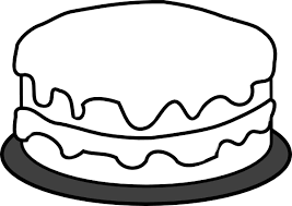 Birthday Cake Coloring Pages 2