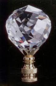 Swarovski Crystal Lamp Finials by Bluebird Lamp Finial In Handblown Glass Finials Accessories