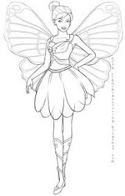 Here Are Two Coloring Pictures Of Barbie As A Fairy