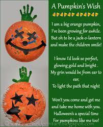 Poems About Halloween For Kindergarten by Paper Plate Pumpkin Handprint Craft U0026 Poem For Kids Footprint