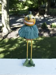 Trixie The Halloween Fairy Book Report by Vintage Style Folk Art Halloween Skinny Leg Pumpkin Man Jack O
