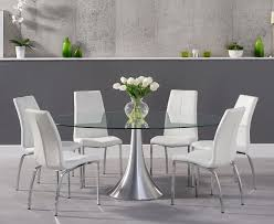 Paloma 180cm Oval Glass Dining Table With Cavello Chairs