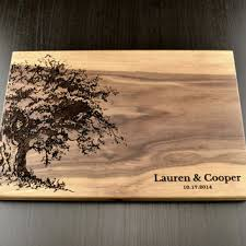 Personalized Cutting Board Custom Wedding Gift Housewarming Anniversary Engraved Wood
