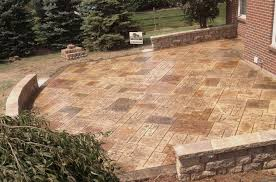 Amazing Patio Slabs Design Ideas Concrete Slab Stamped Cost With