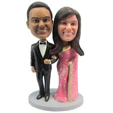 Cheap Wedding Decorations Online by Express Free Shipping Personalized Bobblehead Doll India Couple