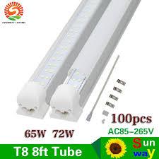65w 72w 8ft t8 led lights integration 2 4m 2400mm smd 2835