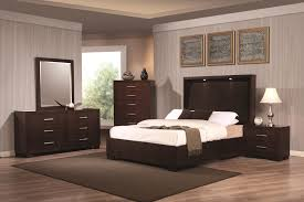 King Platform Bed With Leather Headboard by Coaster Jessica California King Platform Bed With Rail Seating And