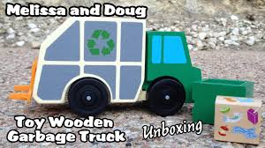 Melissa And Doug Toy Wooden Garbage Truck - UNBOXING - YouTube