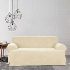 Sure Fit Scroll T Cushion Sofa Slipcover by Sure Fit Scroll Brown T Cushion Sofa Slipcover Sofa