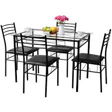 Tangkula Dining Table Set 5 Pieces Home Kitchen Dining Room Tempered Glass  Top Table And Chairs Breaksfast Furniture Dinning Table With Chairs, Black Santa Clara Fniture Store San Jose Sunnyvale Buy Kitchen Ding Room Sets Online At Overstock Our Best Winsome White Table With Leaf Bench Fancy Fdw Set Marble Rectangular Breakfast Wood And Chair For 2brown Esf Poker Glass Wextension Scala 5ps Wenge Italian Chairs Royal Models All Latest Collections Engles Mattress Mattrses Bedroom Living Floridas Premier Baers Ashley Signature Design Coviar With Of 6 Brown