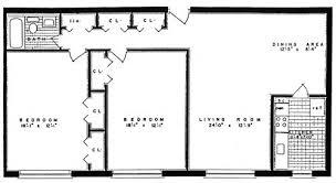 2 Bedroom 1 Bath Dorchester Towers