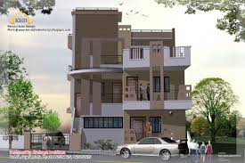 3 Storey House Colors 3 Story House Plan And Elevation 2670 Sq Ft Home Appliance
