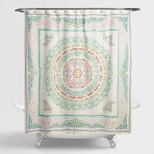 Arabella Medallion Shower Curtain