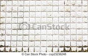 Grungy White Mosaic Tiles Flower Texture With Filling