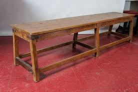 Rustic Large Bench Or Teak Coffee Table With Center Support And Stretchers Great For Added