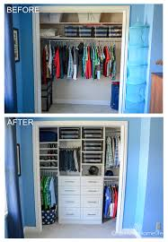 Organized Boys Room Closet Before And After