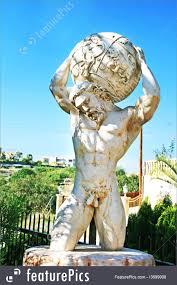 100 Atlant Sculptures Garden Statue Of Atlas Holding The World On His Shoulders