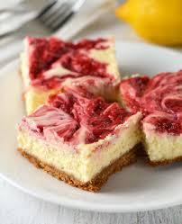 Pumpkin Swirl Cheesecake Bars by Strawberry Lemonade Cheesecake Bars Friday Is Cake Night