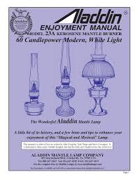 Aladdin Mantle Lamp Model 12 by Aladdin Enjoyment Manual By The Lighting Guy Issuu