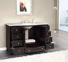 Ebay Bathroom Vanity Tops by Silkroad 55 Inch Single Sink Bathroom Vanity Carrara White Marble