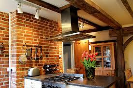KitchenCottage Kitchen With Eksposed Brick Wall Idea Cottage