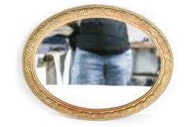 vintage wall mirror gold oval mirror mid century