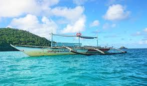 Boat Near Calaguas Islands Philippines
