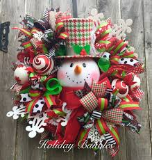 Mr Jingles Christmas Trees Hollywood by Houndstooth Snowman By Holiday Baubles Trendy Tree Custom