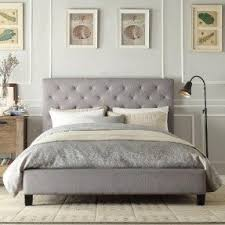 Target Roma Tufted Wingback Bed by Upholstered Headboard Queen Bed Foter